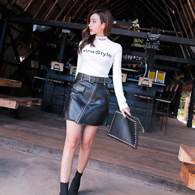 Image 2 - 2018 New Fashion Genuine Sheep Leather Skirt G5Skirts