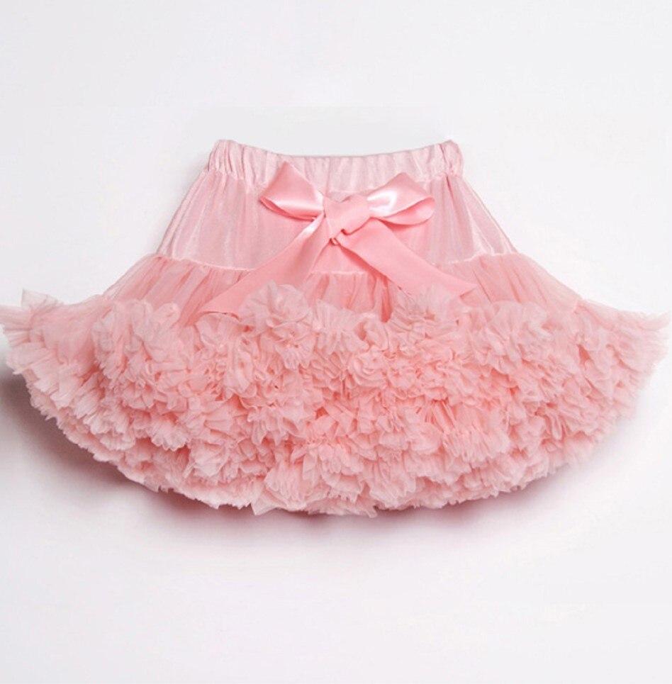 Юбки для девочек, юбка-пачка, юбка-американка для маленьких девочек, юбка-пачка для маленьких девочек, юбка для танцев, вечерние, подарок на день рождения - Цвет: peach pink