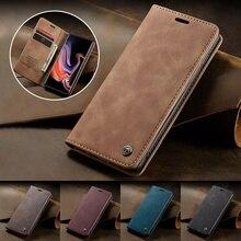 Ретро Флип кожаный чехол для samsung Galaxy S10 S10e S9 S8 Plus S7 Edge/A20/A30/A40/A50/A70 Чехол-бумажник для iPhone 11 Pro XS Max