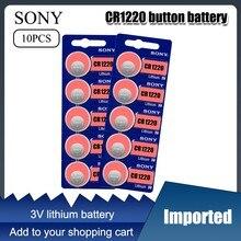 10 pçs/lote original sony cr1220 botão baterias de célula cr 1220 3v lítio moeda bateria br1220 dl1220 ecr1220 lm1220