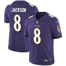 Мужская Новинка, Высококачественная фиолетовая майка Baltimore Lamar Jackson Ravens