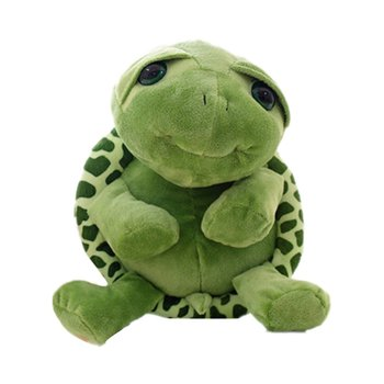 цена на Super Cute Green Big Eyes Tortoise Plush Toy Soft Animals Turtle Toys Baby Doll Children Gift Stuffed Plush Toy