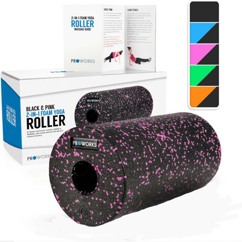 Proworks Foam Yoga Rollers Deep Tissue Gym Trigger Point Back Muscle Exercises