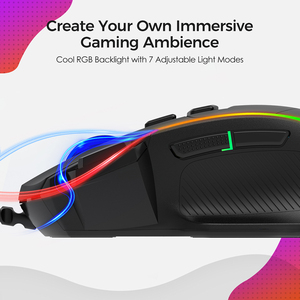 Image 3 - PICTEK PC278 Gaming Mouse Ergonomic Wired Computer Mouse Gamer 8 Buttons Programmable Mice with 8000 DPI RGB Backlit for PC Game