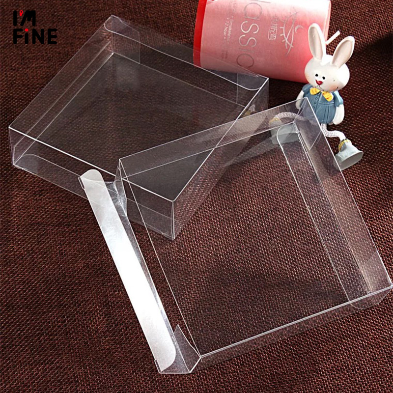 7.5*7.5*1cm Cheap Pvc Box For Gift//candy/cosmetic/small Transparent Clear Plastic Pvc Box Packing Boxes