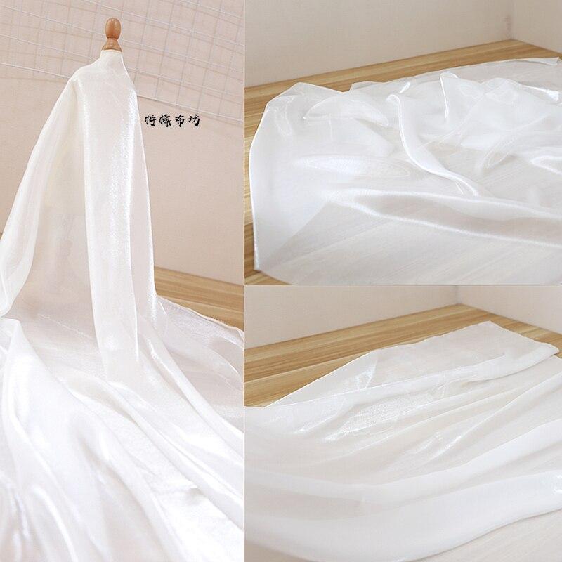 Su Fuer high-density micro-permeable silky breathable skin gauze shawl coat Hanfu elegant white fabric 14.5-5