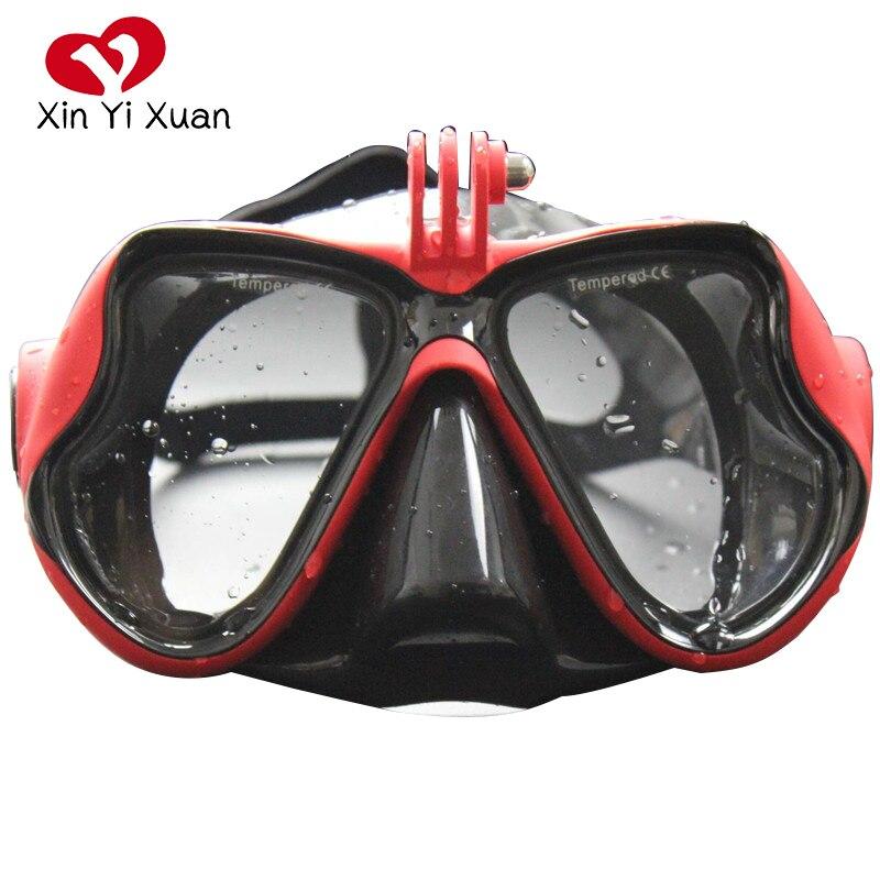 Анти туман маска для подводного плавания Подводное дыхание плавание ming складной ремешок для взрослых 2019 под водой дайвинг маска для камеры