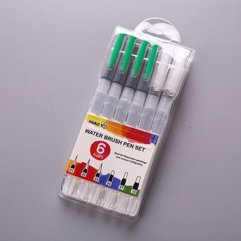 6 PCS copic markers Business Pen Nylon Water Storage Brush Soft Pen Water Soluble art supplies markers colores stationery image