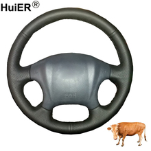 Hand Sewing Car Steering Wheel Cover Top Layer Cow Leather Volant Funda Volante For Hyundai Tucson 2005 2006 2007 2008 2009