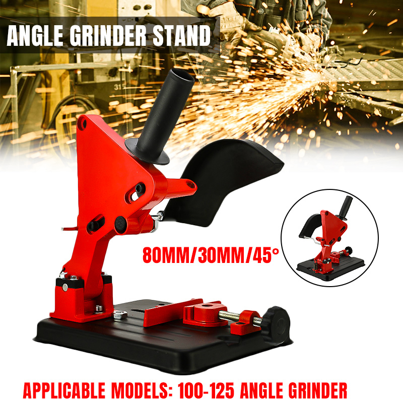 Angle Grinder Stand Bracket Holder Cutter Support For 100 125 Cutter Angle Grinder Cast Iron Base Power Tool Accessory