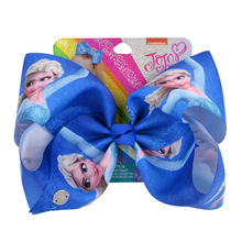 8 Inch JoJo Bows Jojo Siwa Rainbow Princess Ribbon Bow For Girls Handmade Boutique Hair Clip Children Hair Accessories on AliExpress