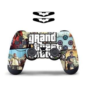 Image 3 - Para sony ps4 controlador camuflagem vinil pele adesivo capa pele para playstation 4 gamepad decalque joystick controle