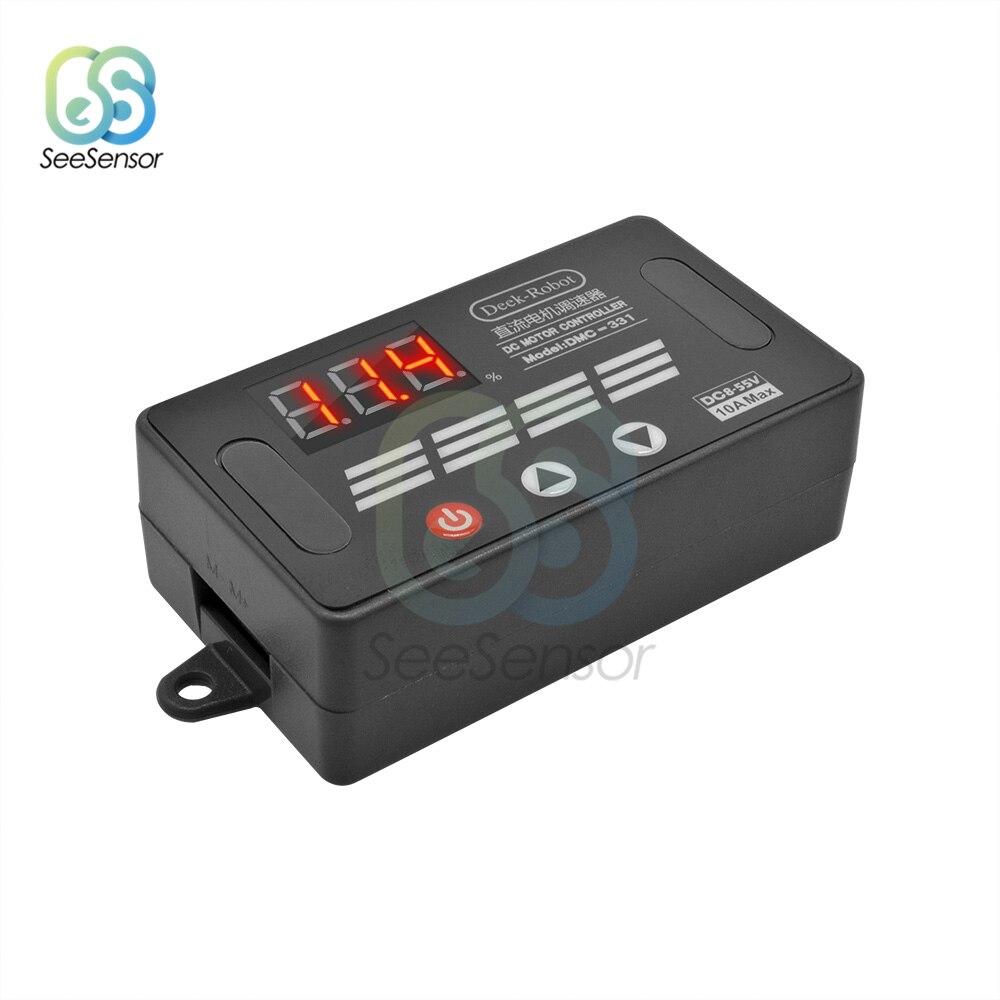 DMC-331 DC8V-55V 10A DC PWM Motor Speed Controller LED Digital Adjustable Speed Regulator Control Governor Switch 12V 24V 36V