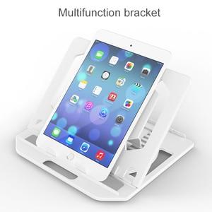 Image 4 - Höhe Einstellung Laptop Stehen Für Macbook Pro Notebook Unterstützung 360 Grad Rotierenden Unteren Computer Stand Riser Cooling Pad