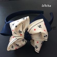 1 Pcs/lot Big Bowknot Girls Children Headbands Hoop For Hair Band Bows Grosgrain Ribbon Accessories Hairband Headwear