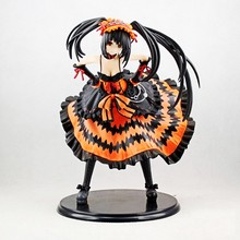 Anime Date A Live Tokisaki Kurumi Nightmare PVC Action Figure Collectible Model doll toy 21cm date a live tokisaki kurumi school uniform figma 16cm japan anime pvc vocaloid figures kids hot toys for children birthday gifts