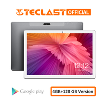 أجهزة لوحية بشاشة مقاس 10.1 بوصة موديل Teclast M30 من الجيل الرابع فابلت 2560x1600 أندرويد 8.0 4GB RAM 128GB ROM MT6797 X27 Deca Core 7500mAh نظام تحديد المواقع واي فاي مزدوج