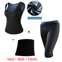 MUKATU(Vest+Belt+Pant) 2/3pcs Neoprene Body Shaper Women Waist Trainer Slimming Pants Super Stretch Lose Weight Control Pant