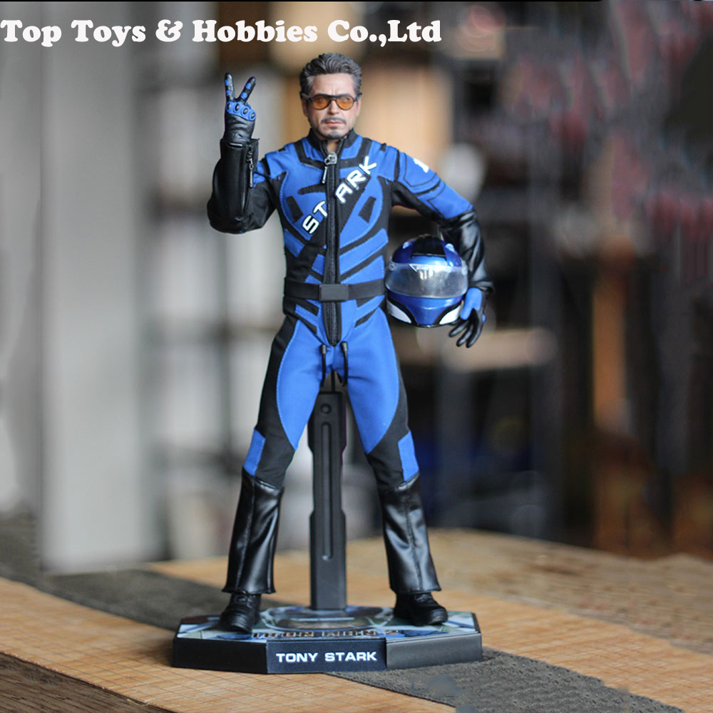 1/6 Scale DJ-012 Custom Blue Iron Man 2 Tony Stark Racing Suit With Helmet With Helmet 12