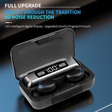 KEBIDU F9 TWS Bluetooth Drahtlose Kopfhörer 5,0 Touch Kopfhörer 9D Stereo Sport Musik Wasserdichte Led-anzeige Headset Mit Mic