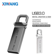 New usb flash drive 128gb metal 3.0 pen 64gb 32gb 16gb 4gb stick 8gb waterproof memory gray Free logo