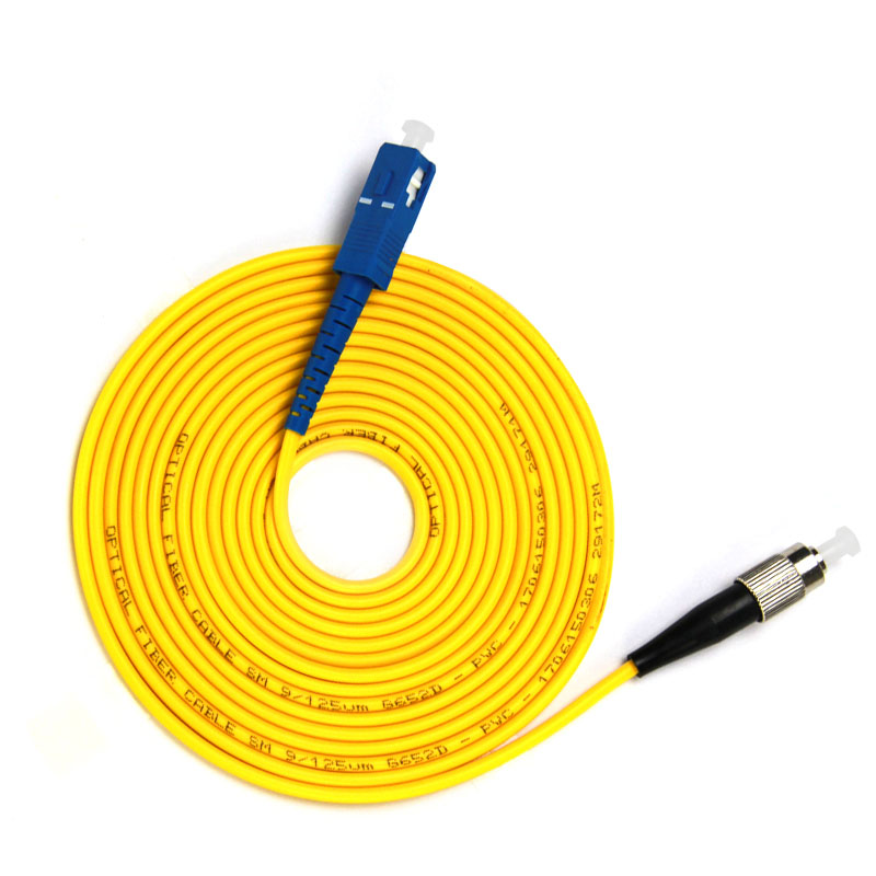 SC/ UPC-FC /UPC Fiber Optic Patch Cord Simplex,Diameter 2mm Or 3mm, Single Mode Cord,Length 1M 2M 3M Or Accept Customization