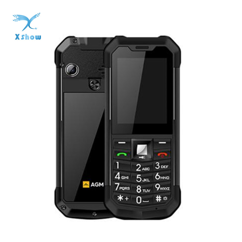 AGM M3 Rugged Dual SIM Outdoor 2.4 Phone IP68 Waterproof  Shockproof Dustproof Torch 1970mAh Flashlight Cell PhoneCellphones   -