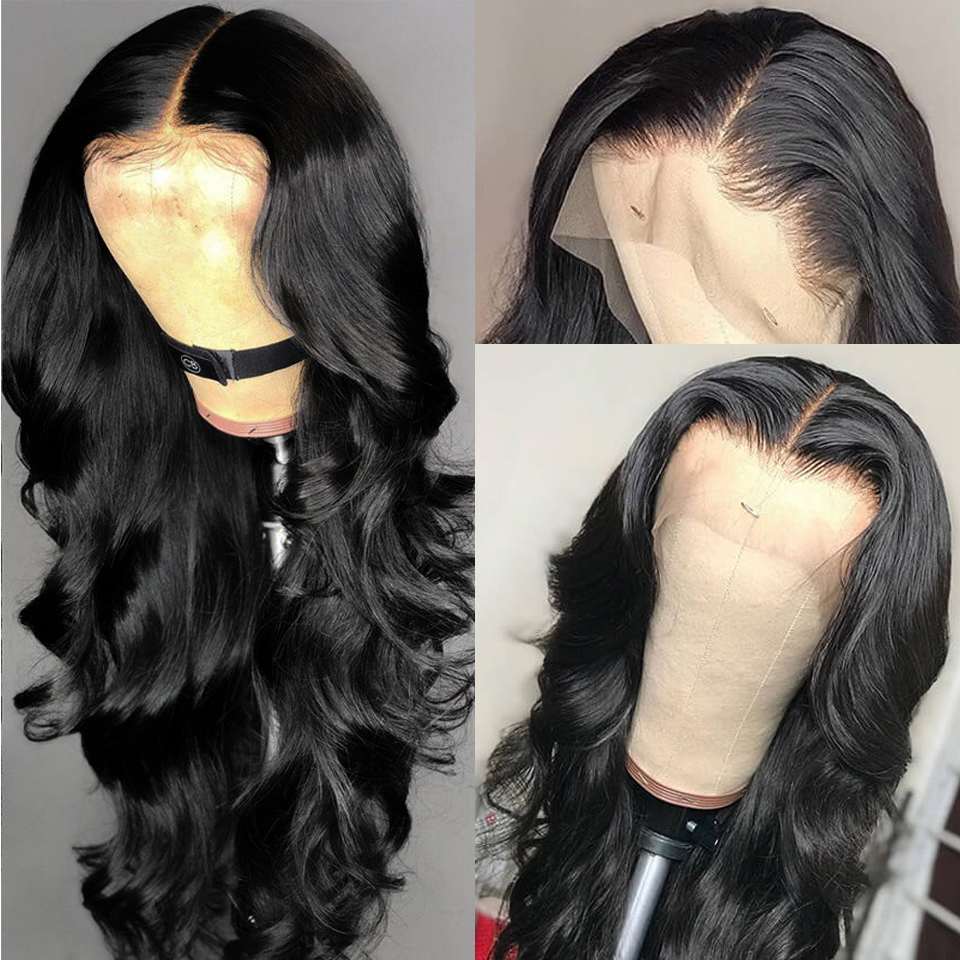 Indian Body Wave Wig Lace Frontal Human Hair Wigs Wet and Wavy Lace Front Wig Pre Plucked Bleached Knots Long Wig with Bangs