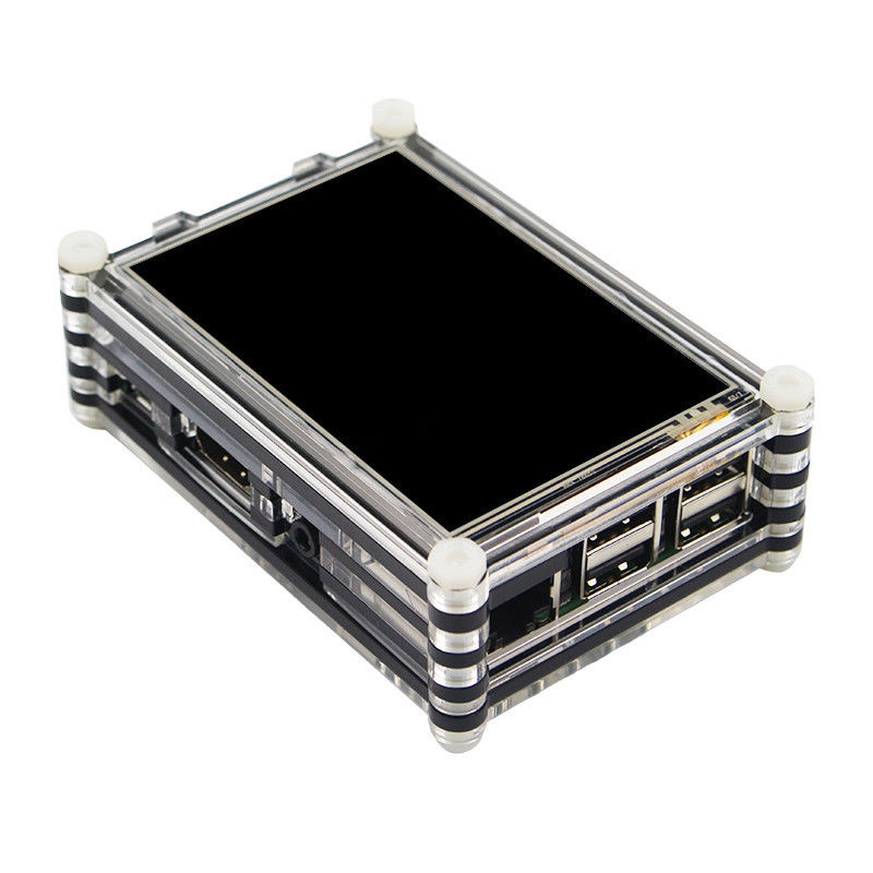 New 128M SPI 60Hz 3.5 Inch TFT LCD Touch Screen Display Case For Raspberry Pi 4 3B+