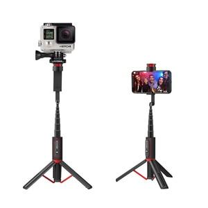 Image 4 - BlitzWolf BW BS10 Sport All In One portátil bluetooth Tripé Selfie Stick Monopé para Gopro 7 6 5 Sports Action 1/4 Screw View titular para seu celular tripé para smartphone para HUAWEI