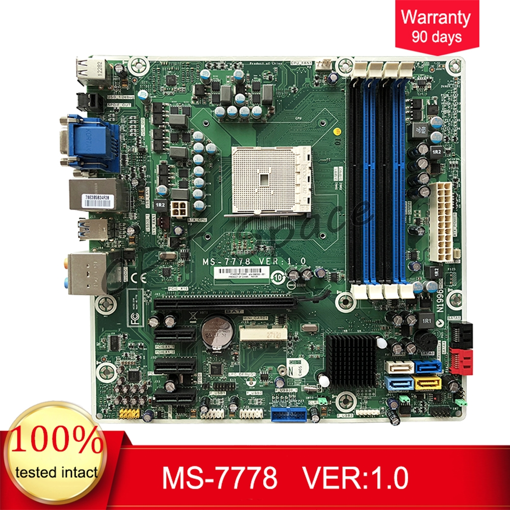 696333-001 MS-7778  For HP Pavilion 5000 Desktop Motherboard 700846-001 FM2 MS-7778 VER:1.0 Mainboard 100%tested Fully Work