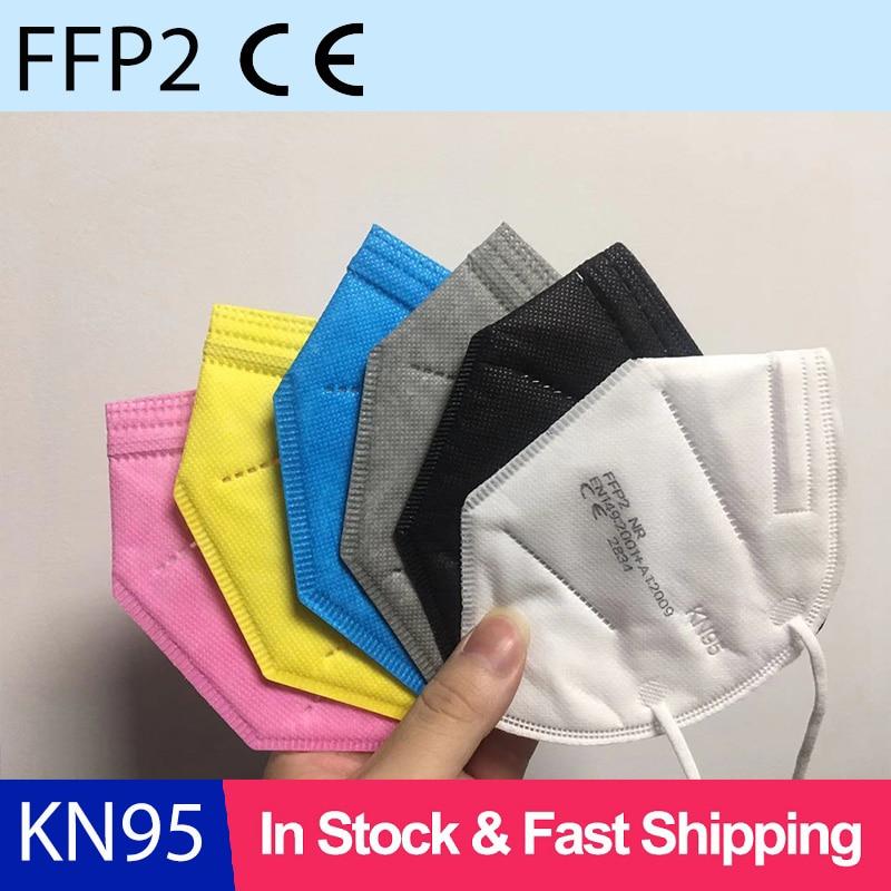 Mascarilla de seguridad FFP2 KN95 de 5 capas, máscara FFP3 antipolvo, anticontaminación, envío rápido
