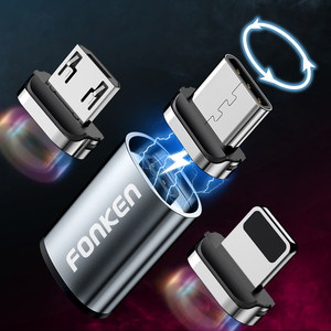 Cable Micro USB tipo C, Conector de conversión, adaptador de Cable magnético, Conector de Cable cargador magnético, convertidor de carga para teléfono móvil