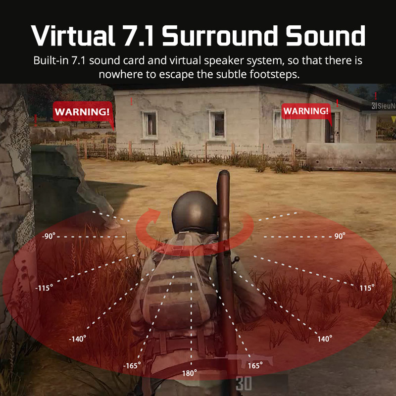 Sades A6 Gaming Headset Gamer Headphones 7.1 Surround Sound Stereo Earphones USB Microphone Breathing LED Light PC Gamer 1