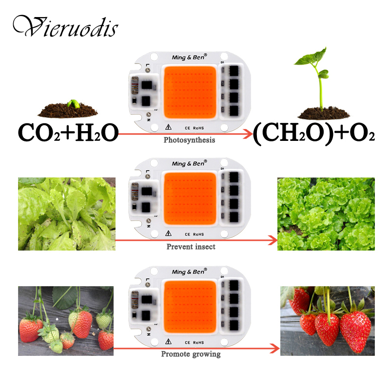 UV Full Spectrum LED Plant Grow Light Lamps For R Indoor Plant Seedling Grow And Flower Growth Fitolamp(20W/30W/50W )