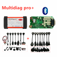 BEST Quality Singe board Multidiag Pro With Bluetooth 2016R0 Scanner vd ds150e C D P ODB2 diagnostic tool+16pcs car/truck cables