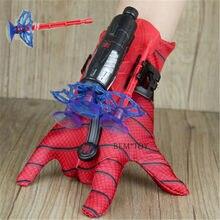 Novo homem aranha brinquedos de plástico cosplay spiderman luva lançador conjunto com caixa original engraçado brinquedos para meninos aniversário ano novo gi