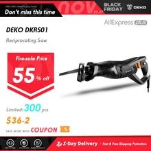 DEKO DKRS01 Electric Saw 900W Reciprocating Saw with Saw Blades Jigsaw Chainsaw Power Tools for Wood