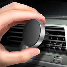 USLION Magnetic Phone Holder For Xiaomi Redmi iPhone 7 11 Samsung Universal Car GPS Air Vent Mount Magnet Car Phone Holder Stand