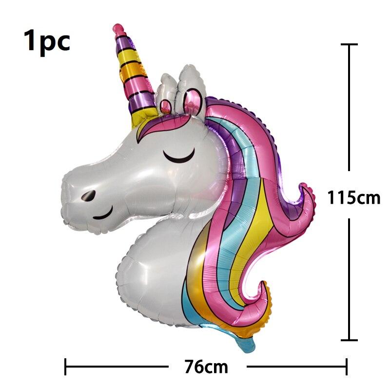 110x80 см большой воздушный шар Единорог Лошадь воздушный шар из фольги детское украшение на день рождения и свадьбу