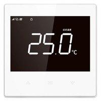 Duvara monte yerden isıtma sıcaklık kontrol cihazı WiFi cep telefonu uzaktan basın ekran sıcaklık kontrol paneli