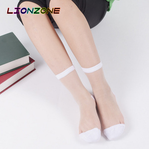 Image 3 - LIONZONE 10Pairs/lot Lace Transparent Crystal Women Socks Different Style Comfy Sheer Silk Harajuku Funny Socks Calcetines Mujer