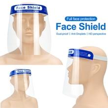 10 pces segurança rosto cheio protetor anti gotas protetora faceshield capa viseira à prova de poeira nevoeiro tela transparente para dropshipping