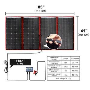 Image 3 - Anaka 300W 12V גמיש פנל סולארי חיצוני מתקפל פנל סולארי לקמפינג/סירה/RV/נסיעות/רכב שמש פנל ערכות עבור בית