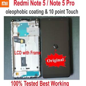 Image 1 - מקורי הטוב ביותר Xiaomi Redmi הערה 5 פרו MEG7S LCD תצוגת 10 נקודת מגע מסך Digitizer עצרת עם מסגרת Hongmi Note5 חיישן