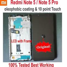Xiaomi pantalla LCD Original Redmi Note 5 Pro, MEG7S, 10 puntos de contacto, montaje del digitalizador de pantalla con Marco, Sensor Hongmi Note 5