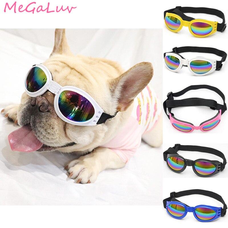 6 Colors Foldable Pet Dog Glasses Medium Large Dog Pet Eyewear Waterproof Dog Protection Goggles UV Sunglasses Pet Supplies