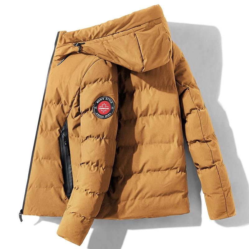 Новые зимние куртки, парка для мужчин, осенняя хлопковая теплая верхняя одежда с капюшоном, брендовые тонкие мужские пальто, Повседневная в...
