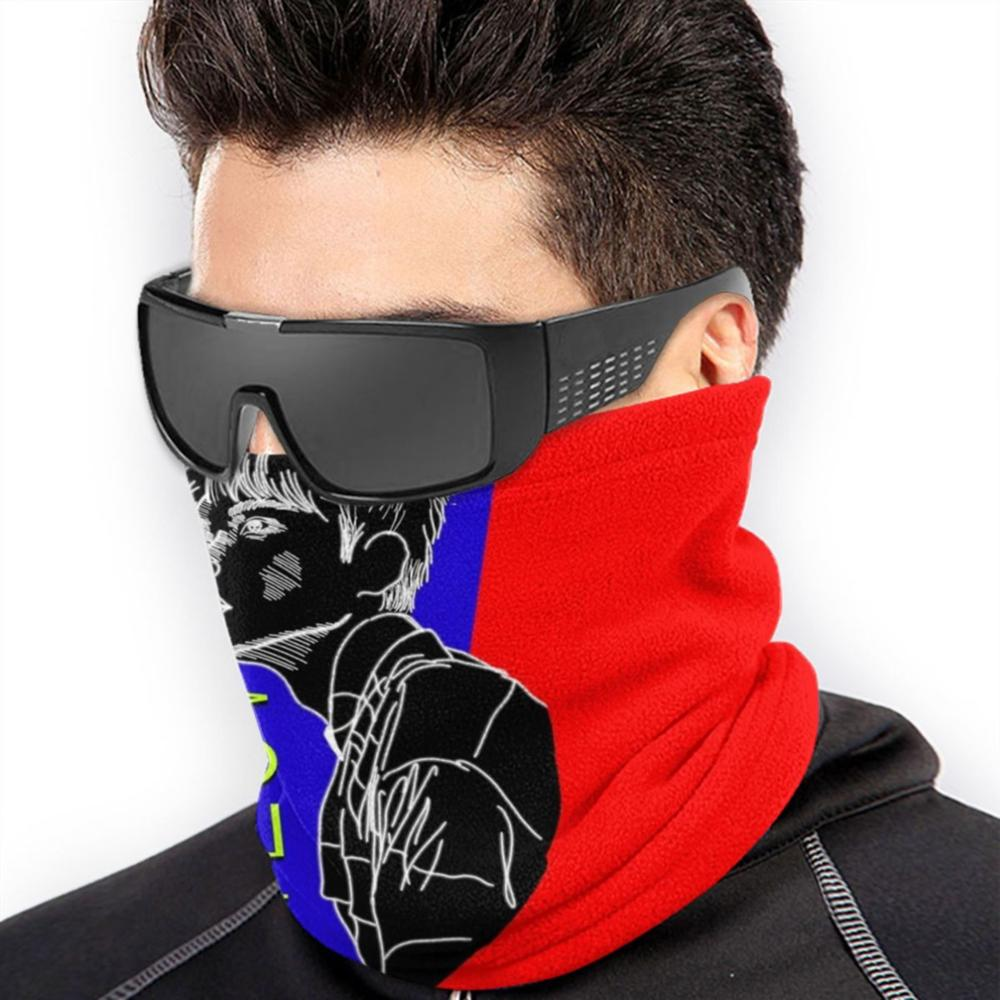 Super Junior's Ryeowook Black Bust Neon Popart-Style Print Microfiber Neck Warmer Bandana Scarf Face Mask Super Junior Super