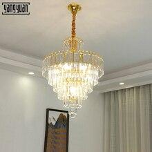 Modern pendant lamp LED K9 Crystal dinning room lights Golden lights hanging Bedroom Chandelier light fixture dining light стоимость